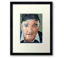 Elderly Man Framed Print