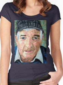 Elderly Man Women's Fitted Scoop T-Shirt