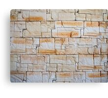 Detail of a decorative wall of jagged limestone tiles Canvas Print