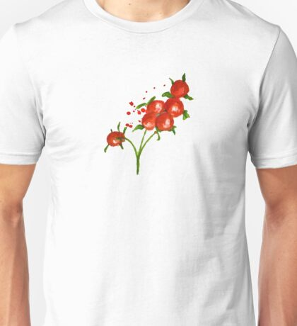 red berries seamless pattern Unisex T-Shirt