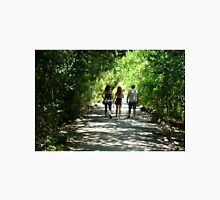 Family Walking Down Covered Trail Unisex T-Shirt