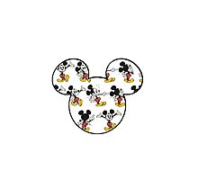 Mickey Mouse Ears Photographic Print