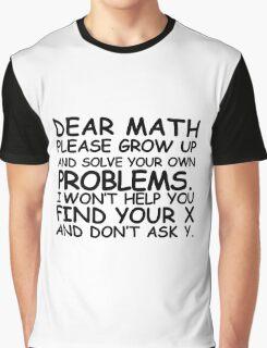 Dear Math Graphic T-Shirt