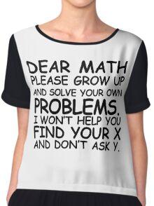 Dear Math Chiffon Top