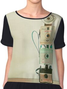 Tower of Cameras Chiffon Top