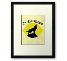 Sourwolf Framed Print