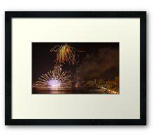Fireworks at the Fiesta del Carmen 2 Framed Print