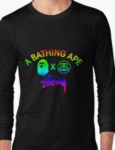 STUSSY - A BATHING APE gradient colors #MP Long Sleeve T-Shirt