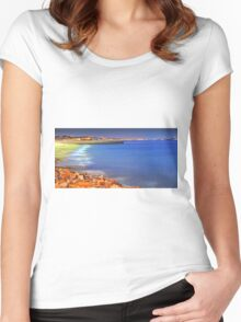 sky reflection Women's Fitted Scoop T-Shirt