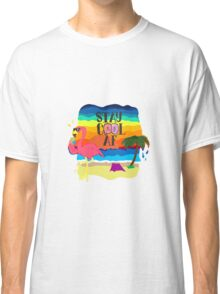 Lonely cool flamingo Classic T-Shirt