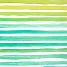 Ocean Watercolour Stripes by Pip Gerard