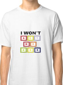 One Direction Act My Age Blocks Classic T-Shirt