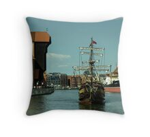 Gdansk Galleon  Throw Pillow
