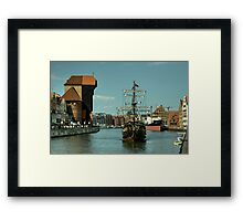 Gdansk Galleon  Framed Print