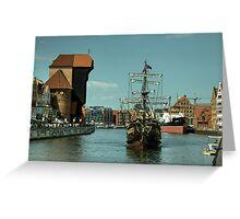 Gdansk Galleon  Greeting Card