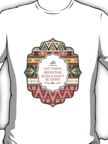Illustration in native american style with arrows T-Shirt