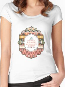 Illustration in native american style with arrows Women's Fitted Scoop T-Shirt
