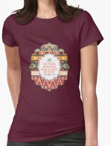 Illustration in native american style with arrows Womens Fitted T-Shirt