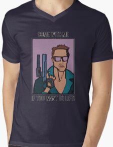 come with me if you want to lift - arnold Mens V-Neck T-Shirt