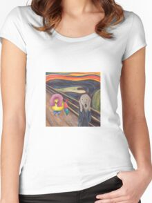 Munch Scream Poodle Women's Fitted Scoop T-Shirt