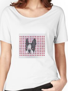 Spotty Boston Terrier Women's Relaxed Fit T-Shirt