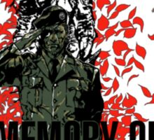 -METAL GEAR SOLID- In Memory Of Patriot Sticker