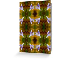 Agapanthus Macro Pattern Greeting Card