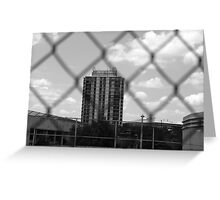 Grey-Scale Apartment Complex  Greeting Card