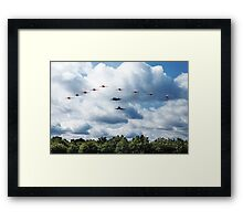 Red Arrows F35 Typhoon Fly By Framed Print