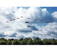 Red Arrows F35 Typhoon Fly By Photographic Print