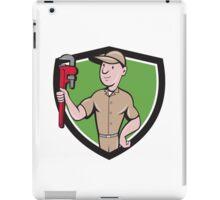 Handyman Monkey Wrench Crest Cartoon iPad Case/Skin