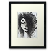 Black and Withe lady Framed Print