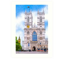 Graphic Westminster Abbey - London Art Print