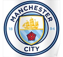 Manchester City FC Badge 2016 Poster
