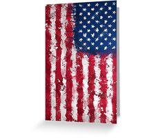 American Flag - Grunge Greeting Card