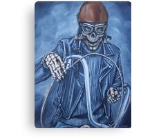 Lost my wings in'39, now i ride a dragster Canvas Print