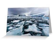 Icy Channel Greeting Card