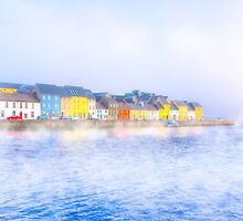 Misty Morning On The Irish Coast At Galway by Mark Tisdale