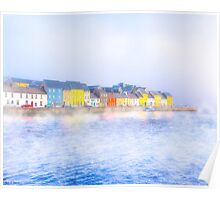 Misty Morning On The Irish Coast At Galway Poster