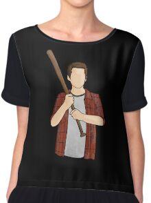 Stiles Stilinski / Dylan O'Brien / Teen Wolf / Baseball Bat Chiffon Top