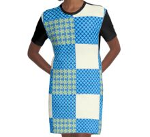 Patches blue lagoon Graphic T-Shirt Dress
