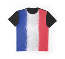 French Flag Grunge Graphic T-Shirt