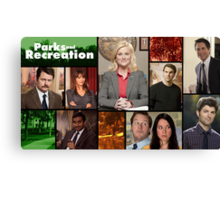 Parks and Recreation Cover Art Canvas Print