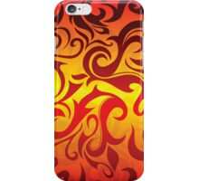 Red, yellow and gold vector pattern iPhone Case/Skin
