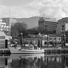 Winter, Constitution Dock Hobart by Brett Rogers