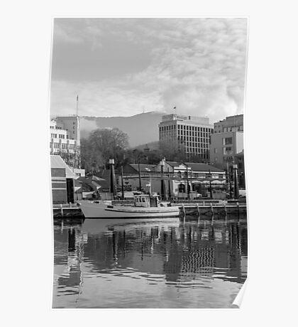Winter, Constitution Dock, Hobart Poster
