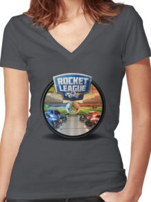 Rocket League Women's Fitted V-Neck T-Shirt