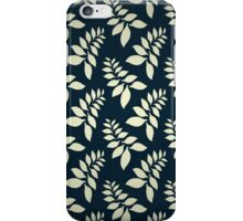 Blue and white leaf pattern iPhone Case/Skin