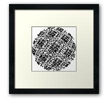 Hologram Pop Art Sphere Framed Print