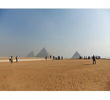 Pyramids at Giza Photographic Print